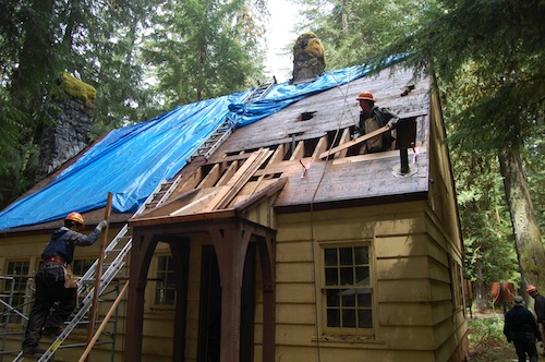 La Wis Wis Guard Station gets a new roof