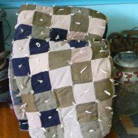 Nine patch block quilt